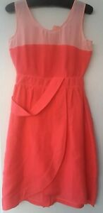 Fendi Spiced Coral/ Pink Sleeveless Dress. IT42/ UK 10. New with Tags £910