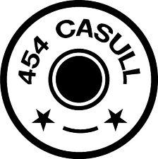 454 CASULL BULLET BRASS Gun Rifle Ammunition exterior decal sticker car wall