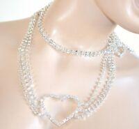CEINTURE bijou femme argent strass cristaux cérémonie cœur mariée demoiselle H3