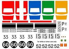 #60 Porsche 910 Carrera 6 1/64th HO Scale Slot Car Decals