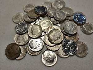 Lot of Roosevelt Dime Silver Roll 50 coins!!!!!
