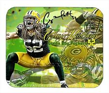 Item#1234 Clay Mathews Green Bay Packers ART Facsimile Autographed Mouse Pad