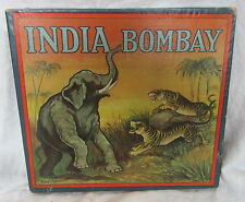 Antique Cutler&Saleeby Board Toy India Bombay Parcheesi Style Game Elephants +
