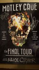 SIGNED MOTLEY CRUE FINAL TOUR LITHOGRAPH X4 NICE SIGS! REAL COA (ROGER EPPERSON)