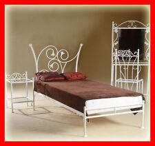 Einzelbett metall Aurelia 90x200 mit niedrigem Fußteil, inkl. Lattenrost!!