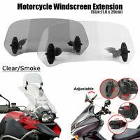 Universal Einstellbar Windschutzscheibe Clip On Motorrad Extension Windschild DE