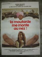 LA MOUTARDE ME MONTE AU NEZ P. Richard 1974 Affiche Originale 40x55 Movie Poster