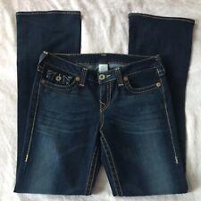 TRUE RELIGION Womens Jeans Size 31 Boot Cut Dark Low Rise