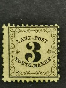 German States  Baden 1863 Postage due 3 K