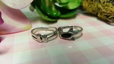 Beautiful Two New Baby Foot Dolphin Toe ring Ring925Sterling*SizeAdjus table*F237