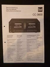Original Service Manual  Dual  CC 3600