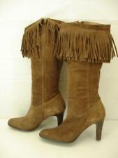 Womens sz 10 M matisse sioux fringe boots brown suede leather knee high side zip