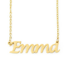 Emma Name Necklace Stainless Steel/ 18ct Gold Plated   Anniversary Valentines