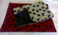 POLAR or sherpa  FLEECE lovely  dog CAT  blanket    WATERPROOf BACK