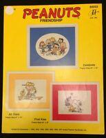 Peanuts Friendship Cross Stitch Chart Pattern Snoopy Charlie Brown 3 Designs OOP