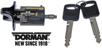 Replacement Ignition Lock Cylinder & Keys Replace FORD OEM # F1DZ11582A Black