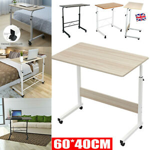 Adjustable Portable Laptop Table Notebook Desk Trolley Sofa Bed Tray Computer UK