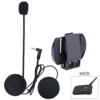 Motorrad Helm Gegensprechanlage Kommunikation Bluetooth Interphone Schwarz