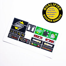 CUSTOM sticker for LEGO 8479 Technic Model Traffic Set