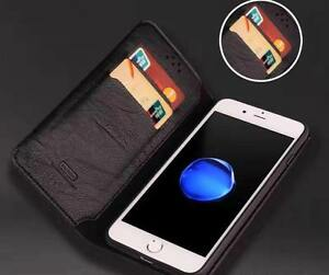 100% Original Luxury Pure Leather Book Wallet Cover Case For Apple iPhone 7 8