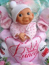 """Windeltorte""""Little Princess,Windelbaby und Babyset """"Geburt,Taufe,Geburtstag!"""