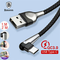 Baseus USB Type C Quick Charge QC3.0 Data Cable For Xiaomi Mi 8 Lite A2 Max 3 F1