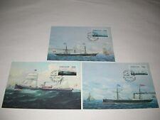 3 Maximum Karten Schiffe 6-8 Dänemark 3 Maximumcards denmark ships No. 6 7 8 MC