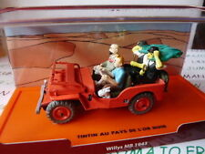 Voiture 1/43 Collection TINTIN 2 base orange : Jeep Willys MB 1943 l'Or noir
