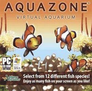 Aquazone Virtual Aquarium  12 Beautiful Species of Fish  Win XP Vista 7  NEW