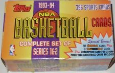 1993/94 Topps NBA Basketball Series 1 & 2 396-Card Boxed Set Opened & Unsealed