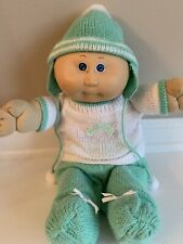 Vintage Cabbage Patch Kid Preemie W/ Blue Eyes & Original CPK Clothing 1985