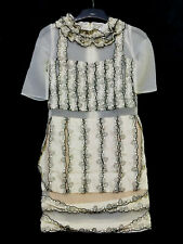 7th heaven  beige embroidered organza and silk  dress