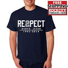 DEREK JETER RESPECT T SHIRT Captain New York Yankees final season unisex Tshirt