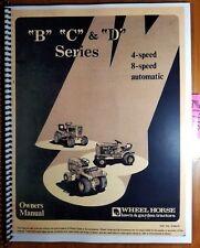 Wheel Horse B-81 B-111 C-81 C-101 C-121 C-141 C-161 D-160 D-200 Tractor Manual