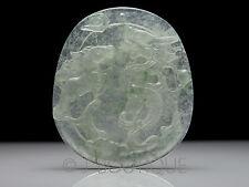 3208S A-Grade Natural Icy Pale Green Jadeite Jade Dragon, Horse &  Ru-Yi Pendant