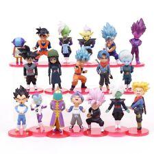 DRAGON BALL SUPER - SET 18 unds Goku Vegetto SSGSS, Vegeta, Zamasu, Black trunks