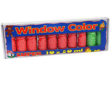 10x Window Color Window-Color Set Groß Fenstermalfarben 80ml Farben 270012