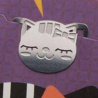 cute mini metal RIBBON KITTY GIRL bookmark silver color for gift korea fashion