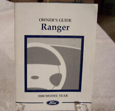 **NEW** 2000 Ford Ranger Owners Manual 00