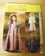Girl's Renaissance Costume Pattern McCall's #P412 Girl's Size 3-6 UNCUT
