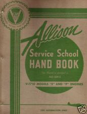 WW2 ALLISON ENGINE MAINTENANCE SERVICE MANUALS V-1710 ARCHIVE P-51 P-40 P-38