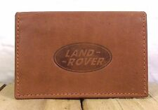 Land Rover logo Brown Leather wallet credit card size, licence / ID holder it126