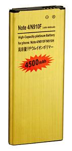NEW 4500mAh High-Capacity Gold Battery for Samsung Galaxy Note 4 N910 USA