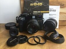 New listing Bronica Rf645 Rangefinder Zenzanon 45 65mm Lenses Film Camera Tamarac Bag Exc