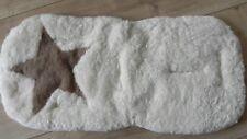 Kaiser 66056 Lammfellauflage für Fußsack beige Stern echtes Lammfell ca.35X77cm