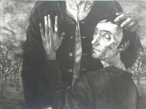 Gravure orig Michel CIRY sign Retour Enfant Prodigue Evangiles Jesus Christ 1973