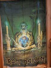 More details for vintage 80s 90s original rock metal poster flag iron maiden seventh son