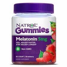 Natrol Gummies Mélatonine 5mg non-Ogm Dietray Supplément 90 Comte