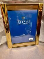"2 Burnes of Boston Brass 8"" x 10"" Photo Picture Frame Easel Back or Wall! New!"