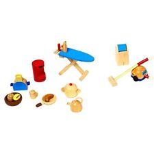 Goki 51939 - Accessori da cucina per Casa delle Bambole 19 pezzi